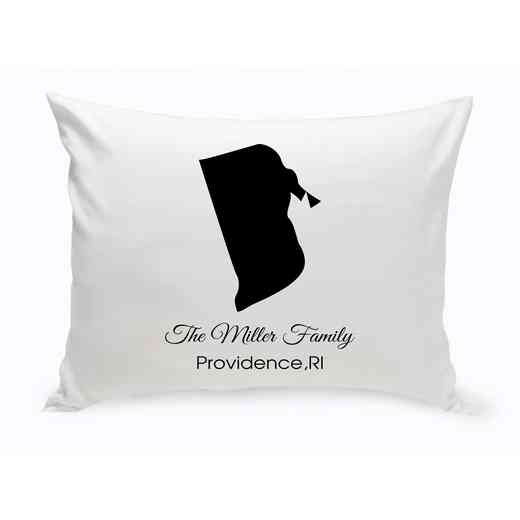 GC1380-RI: Blk PrsnlzedHomeStThrowPillowRhodeIsland